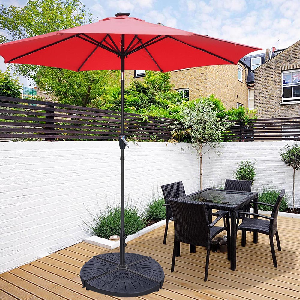 details about patio umbrella metal cross base stand frame supporting outdoor offset market