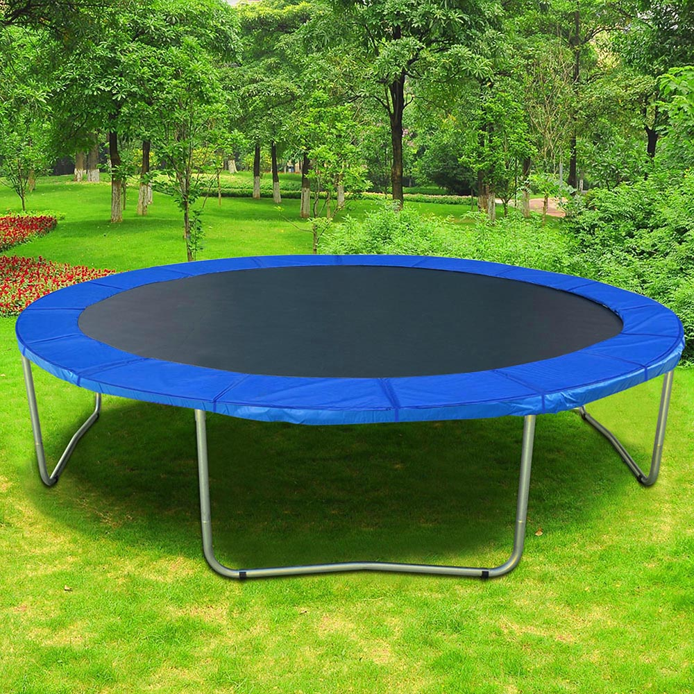 12 13 14 15 Round Trampoline Safety Pad Replacement Frame Spring Blue Cover Ebay