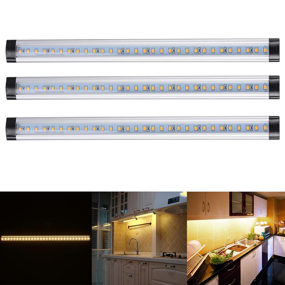 My Favorite Under Cabinet Lighting: 3pcs Kitchen Under Cabinet Shelf Counter LED Light Bar