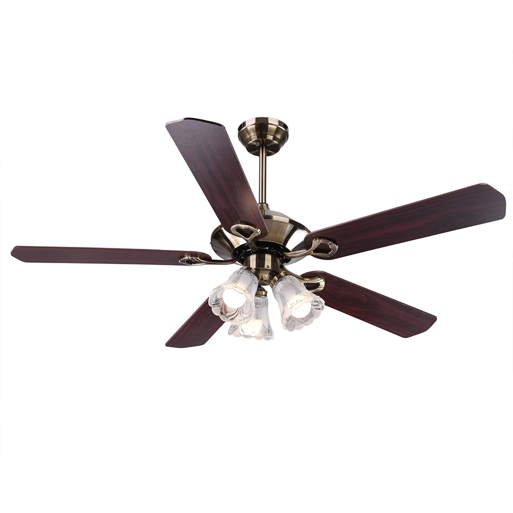 52 Quot 5 Blades Ceiling Fan With Light Kit Antique Bronze Reversible Remote Control 637509491208 Ebay