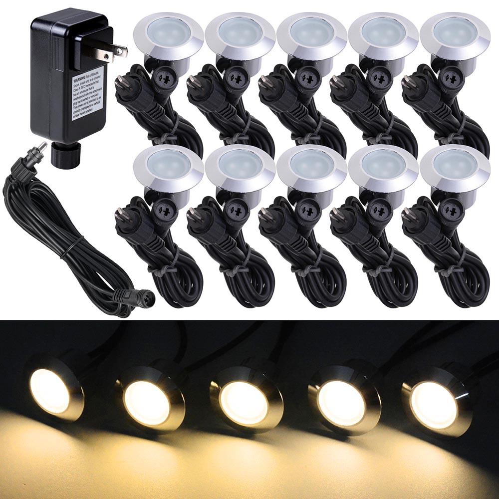 LED-Deck-Light-Garden-Stair-Yard-Landscape-Lamp-5PCS-10PCS-15PCS-Transformer-Opt miniature 10