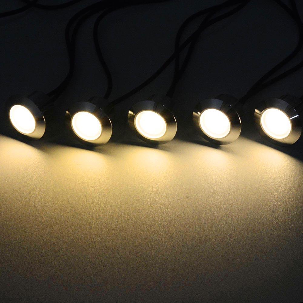 LED-Deck-Light-Garden-Stair-Yard-Landscape-Lamp-5PCS-10PCS-15PCS-Transformer-Opt miniature 12