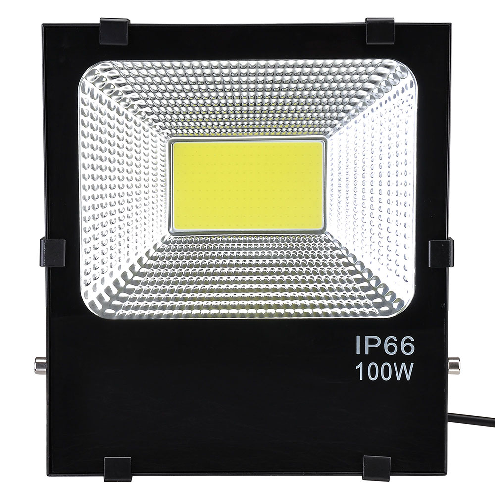 Outdoor Lamp Wattage: 2 Pack 100W LED Flood Light White Outdoor Security Spot