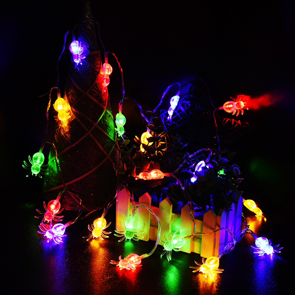 Halloween LED String Lights Spider Bat Skull Pumpkin ...