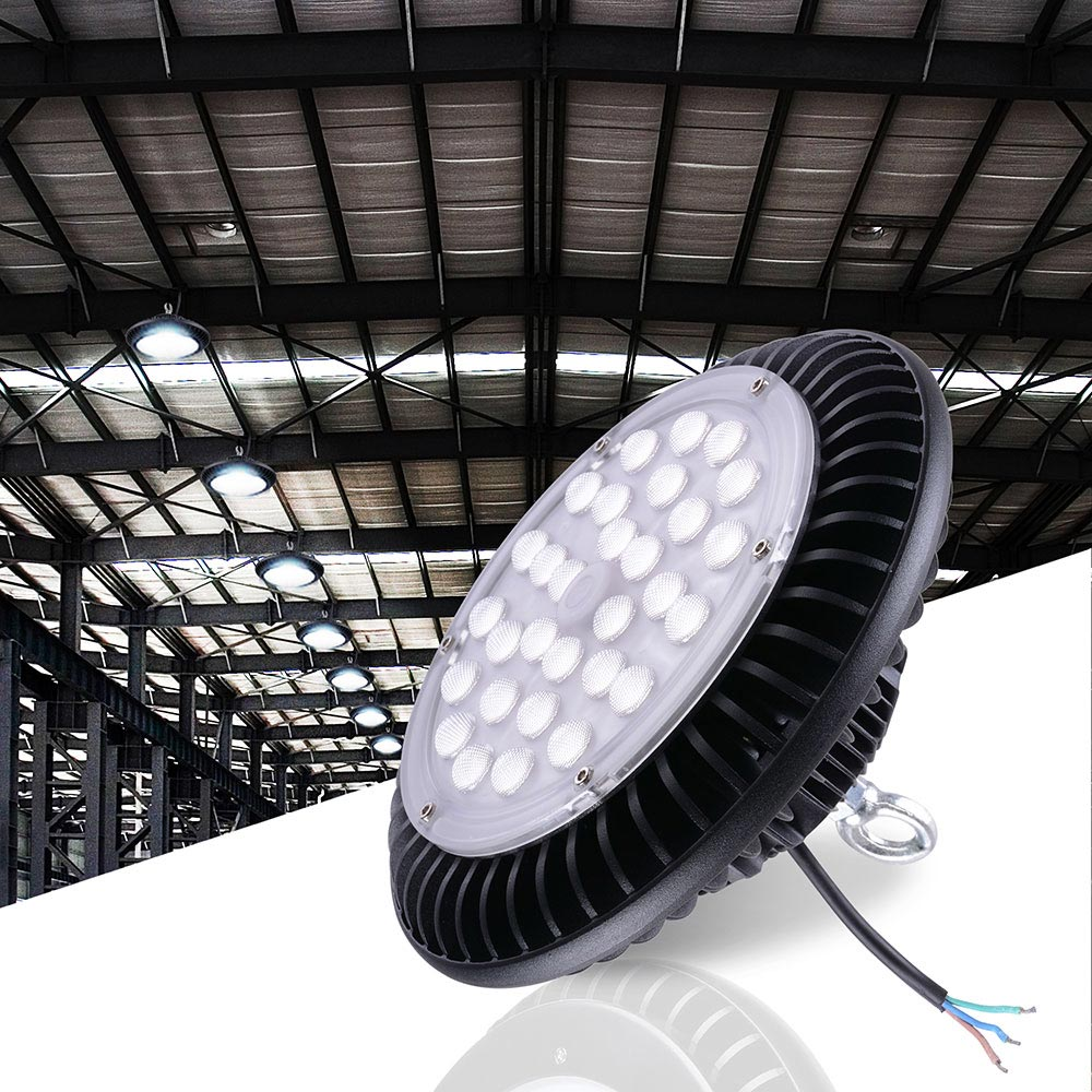 Led Light Fixtures Commercial: 100W 150W LED High Bay Light Warehouse Fixture Factory