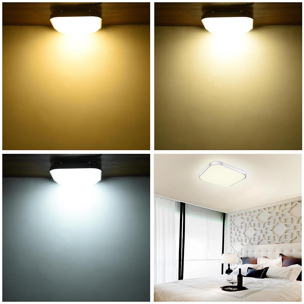 led ceiling light flush mount fixture l bedroom kitchen 15878 | 11mcl001 sq36w r11x2 08a