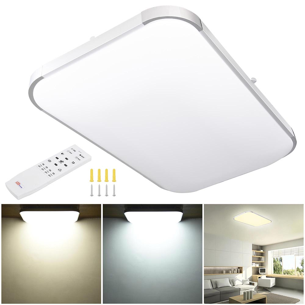 Details About 25 48w Dimmable Led Ceiling Light Aluminum Flush Mount Remote Control