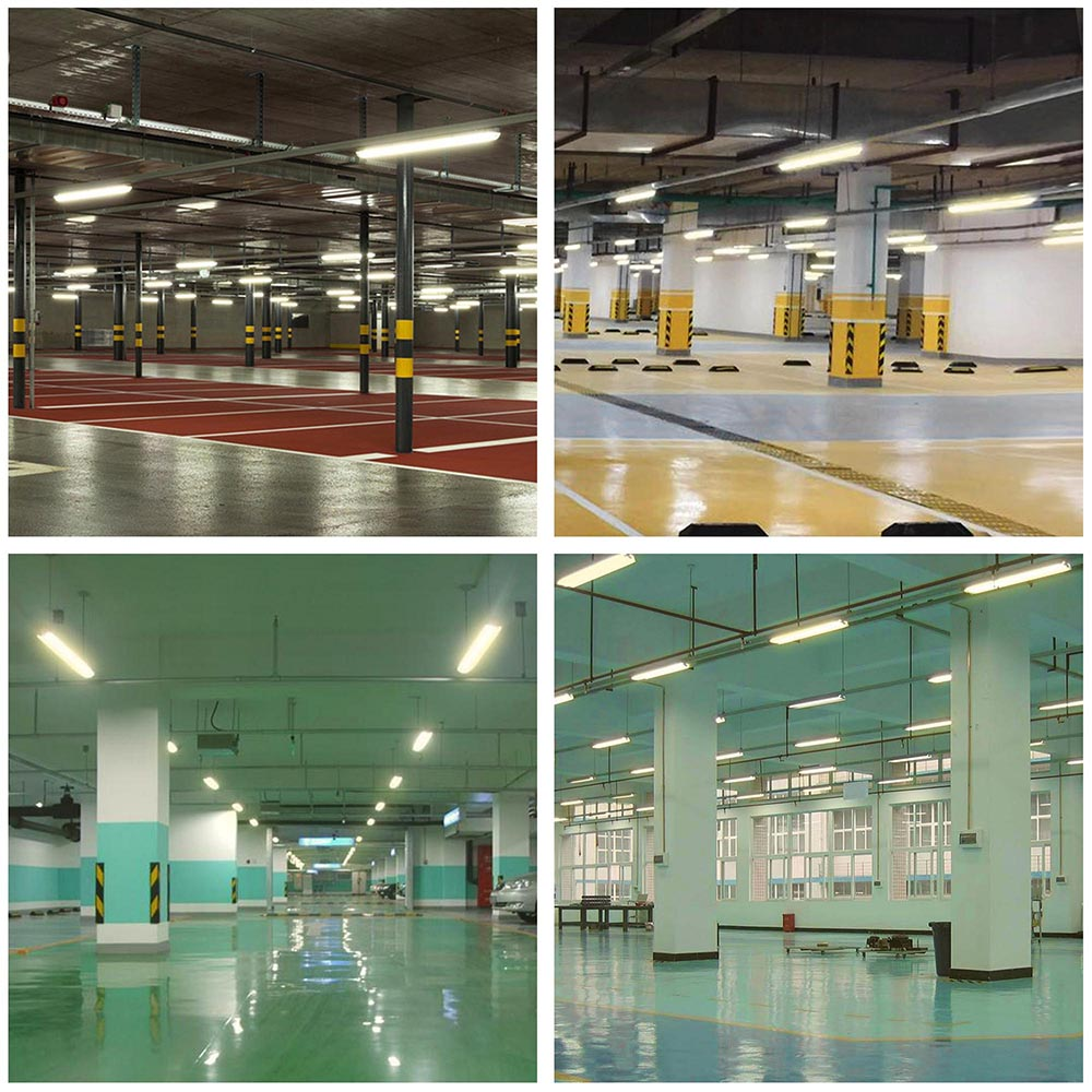 Details about 4 pack led shop light 4ft 40w ceiling hanging garage light linkable 4000k 5000k