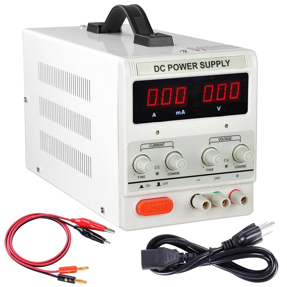 30v 10a Adjustable Dc Power Supply Precision Variable Dual Digital How To Build Voltage And Current Lab Test 110v