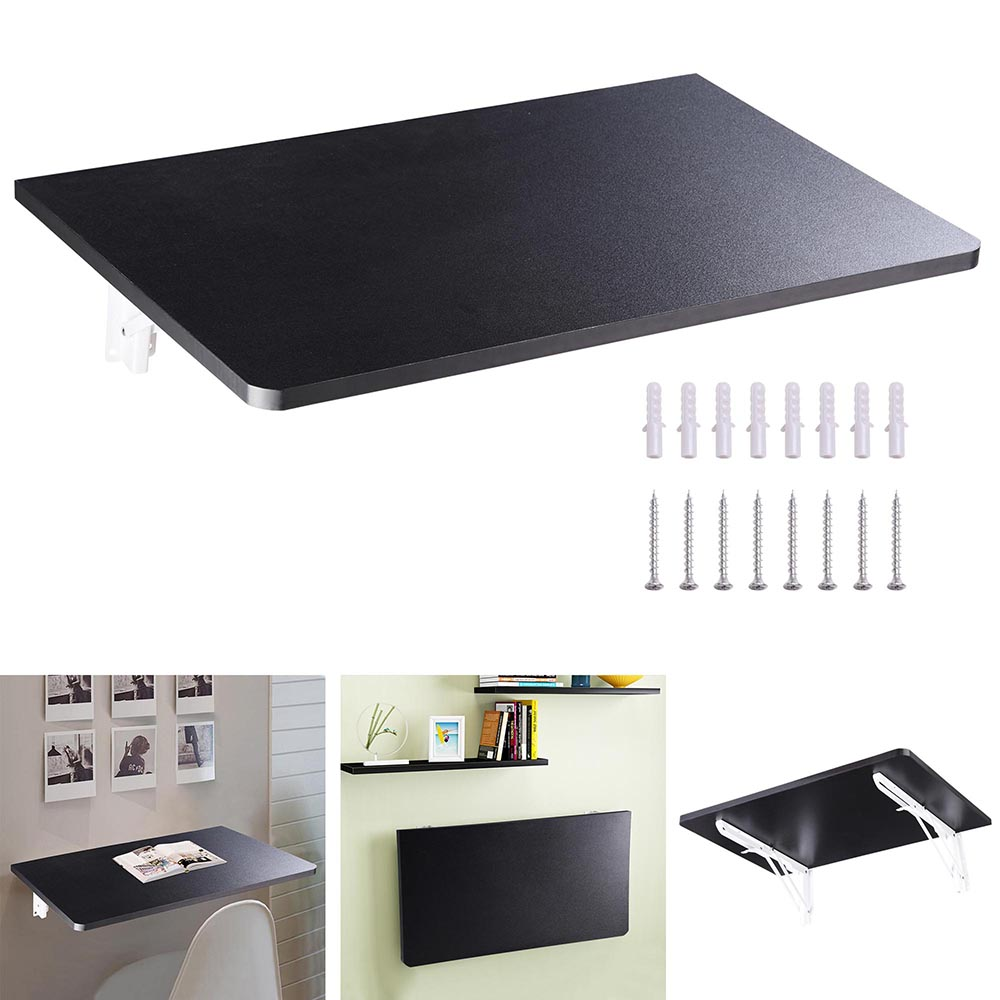 Wall Mounted Floating Folding Computer Desk Pc Table Space Saving Home Furniture Ebay
