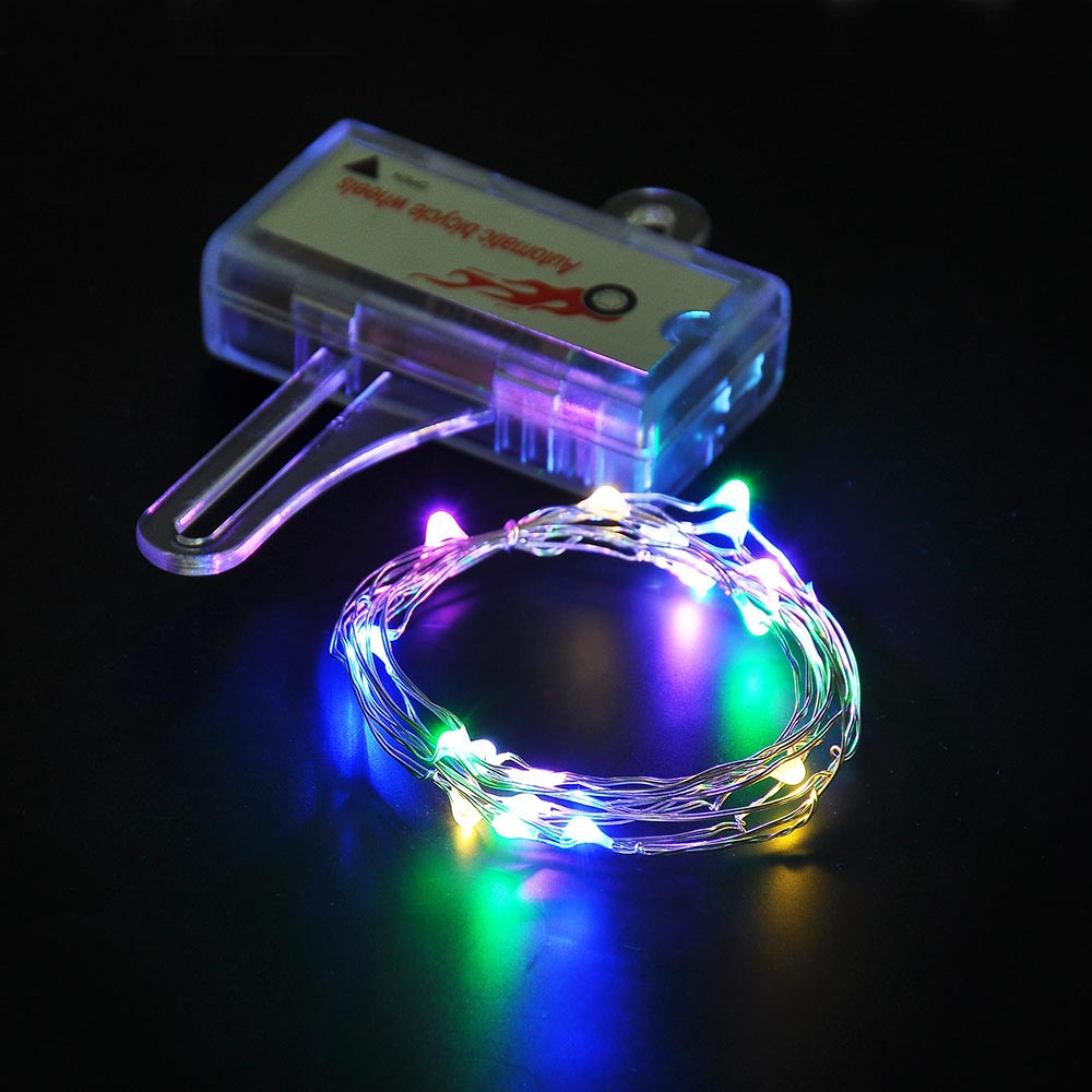 Led String Lights For Cars : LED Bicycle Bike Cycling Rim Lights Auto Open & Close Wheel Spoke Light String eBay