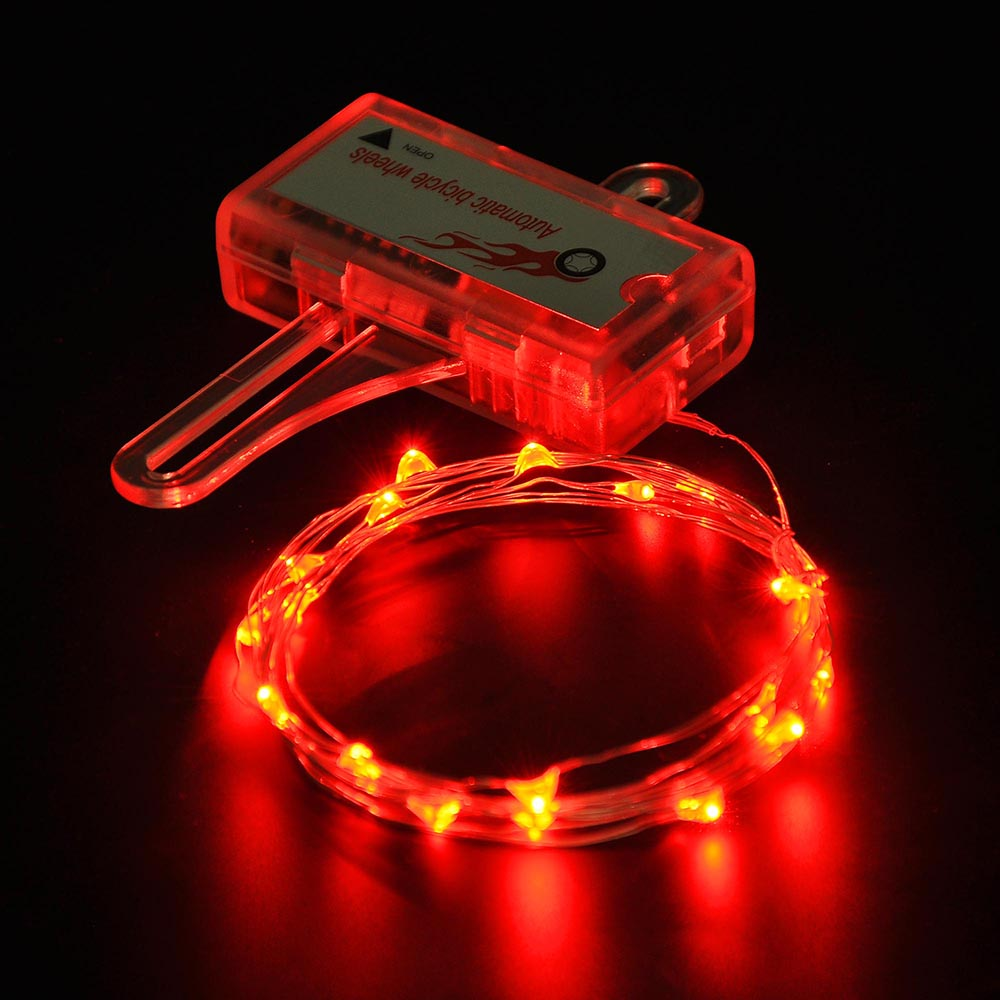 LED Bicycle Bike Cycling Rim Lights Auto Open & Close Wheel Spoke Light String eBay