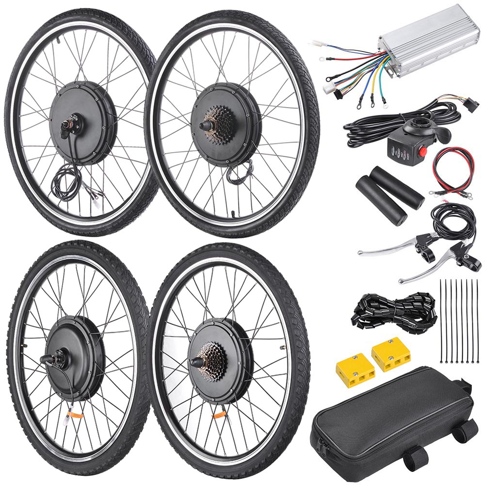 """48V1000W 26/"""" Front//Rear Wheel Electric Bicycle Motor Kit E-Bike Conversion Kit"""