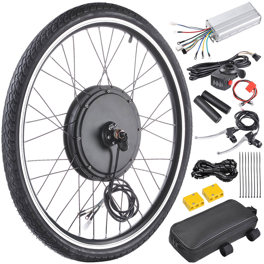 48V-1000W-Front-Rear-Wheel-Electric-Bicycle-Conversion-Kit-E-Bike-Cycling-Motor thumbnail 3