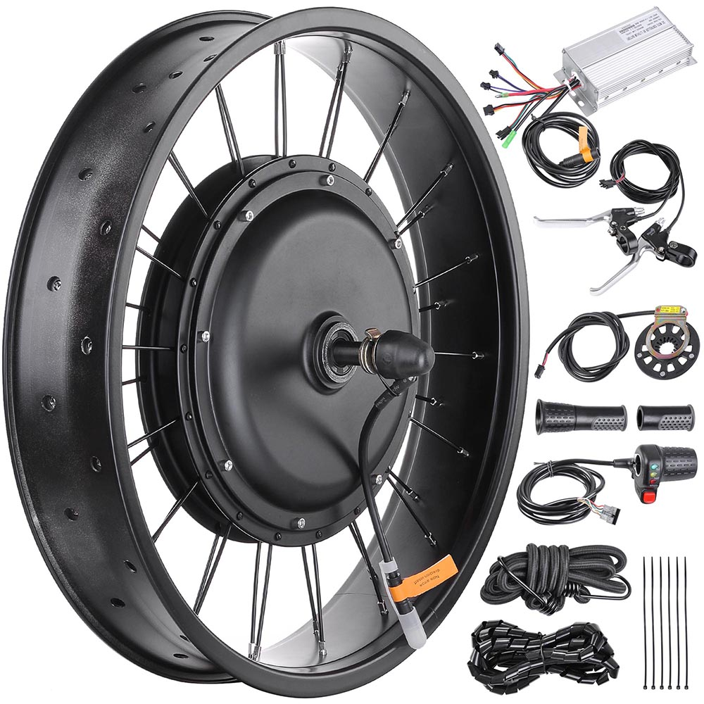 20 24 26 Front Wheel Electric Bicycle Motor Conversion Kit Tire 48v Brushless Bldc From Reliable 034