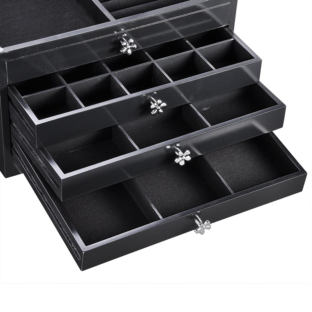Jewelry-Storage-Box-Case-Built-in-Mirror-Watch-Ring-Earring-Necklace-Organizer thumbnail 49