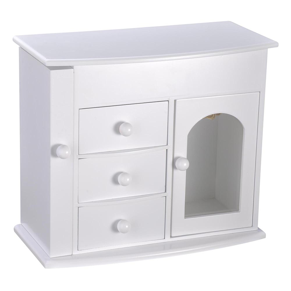 Jewelry-Storage-Box-Case-Built-in-Mirror-Watch-Ring-Earring-Necklace-Organizer thumbnail 18