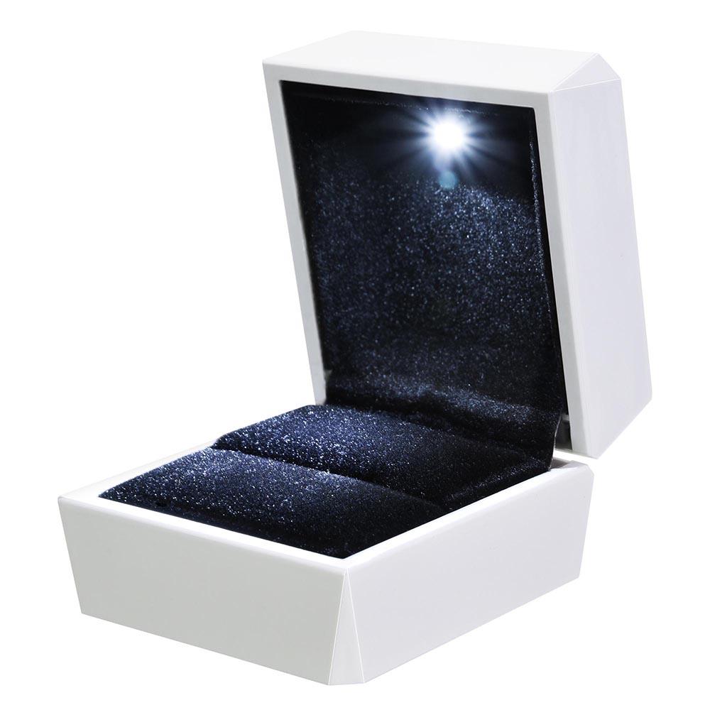 Engagement Ring Box Sale: Diamond Ring Box White LED Light Velvet Jewelry Gift