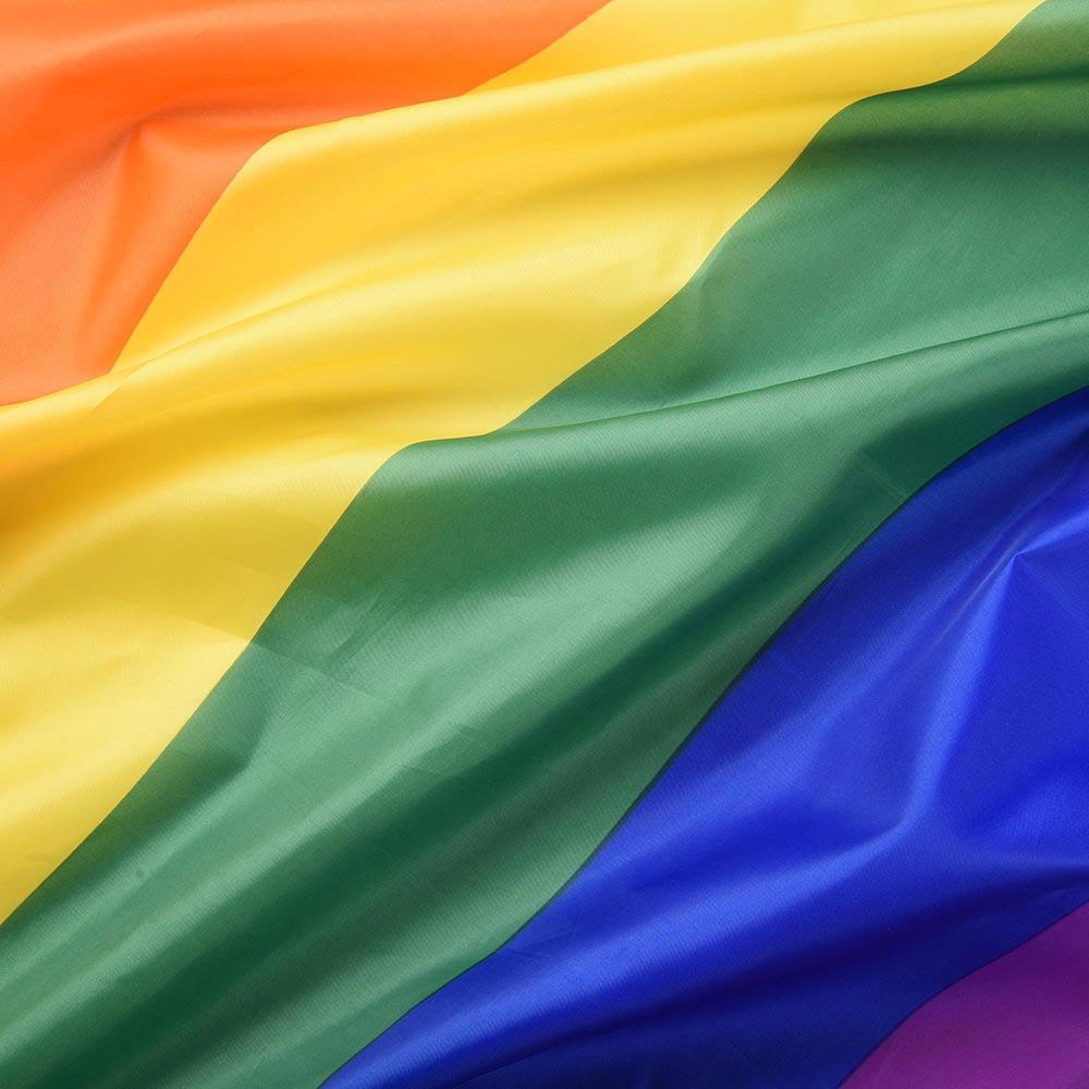 "RAINBOW FLAG 3x5 FEET GAY PRIDE LESBIAN LGBT 36/"" x 60/"" WITH BRASS GROMMETS"