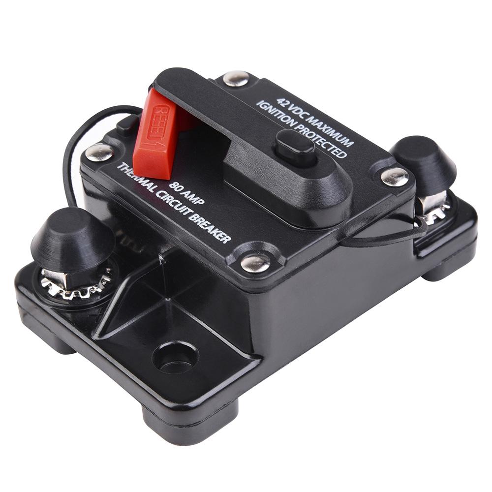 2x Car Circuit Breaker Support Push Button Manual Reset 12V//24V//32V DC 15Amp