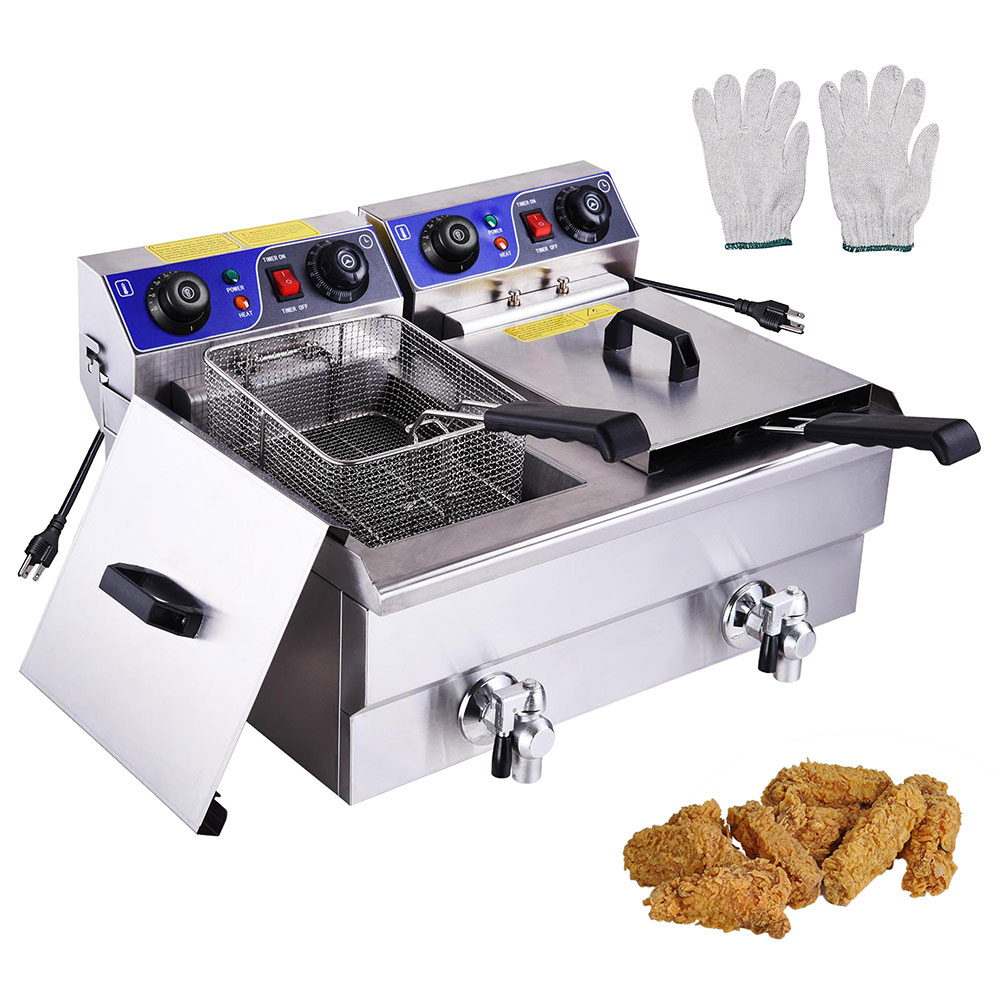 Commercial Electric Deep Fryer French Fry Bar Restaurant