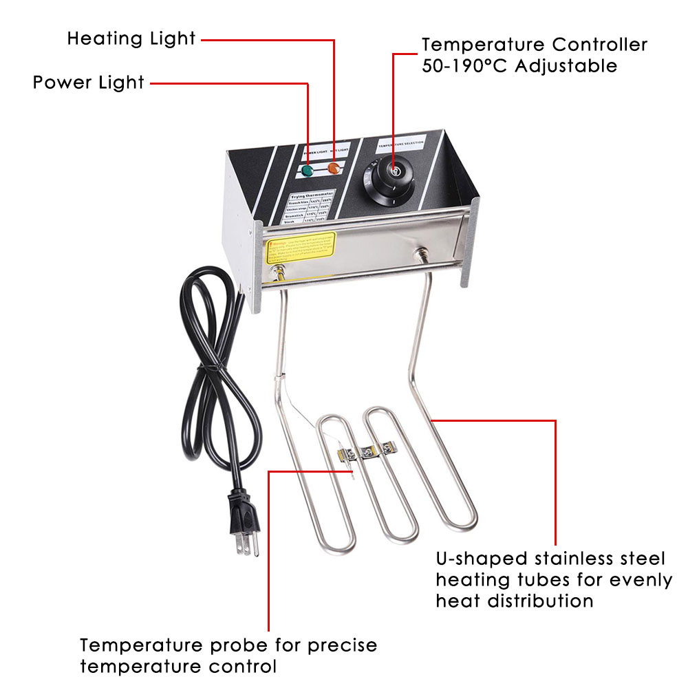 ReaseJoy Commercial 5000W 20L Electric Countertop Stainless ... on