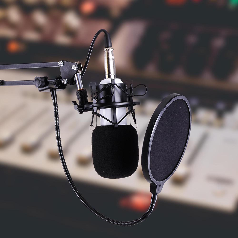 Pro BM800 Kondensator Mikrofon Kit Studio Aufzeichnung Boom Stand Klingen Set