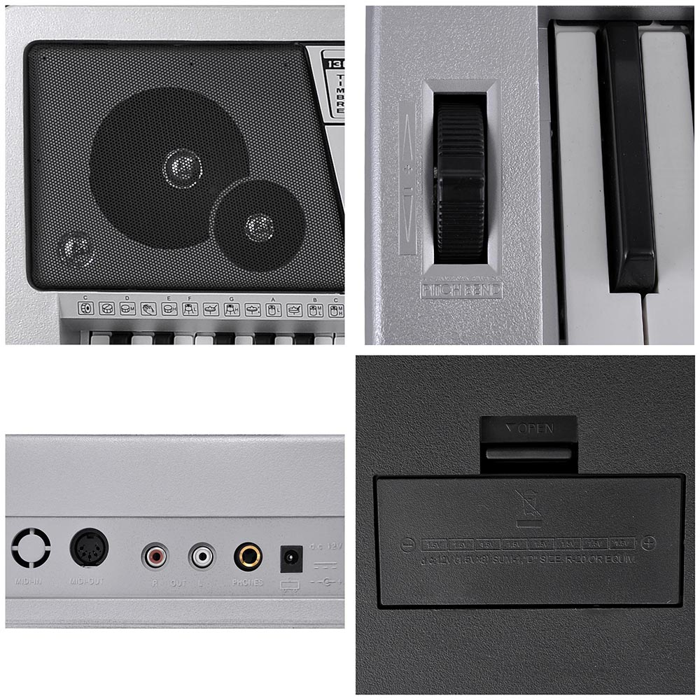 61-Key-Electric-Keyboard-Digital-Piano-Instrument-Kids-Talent-Practise-Xmas-Gift thumbnail 24