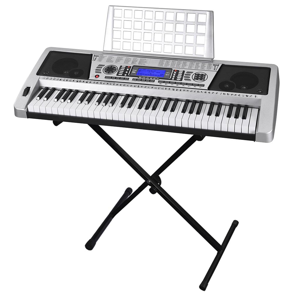61 key electronic piano keyboard music key board organ with x stand heavy duty 637509465971 ebay. Black Bedroom Furniture Sets. Home Design Ideas