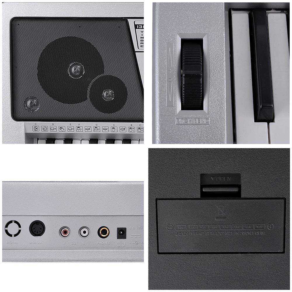 61-Key-Electric-Keyboard-Digital-Piano-Instrument-Kids-Talent-Practise-Xmas-Gift thumbnail 31