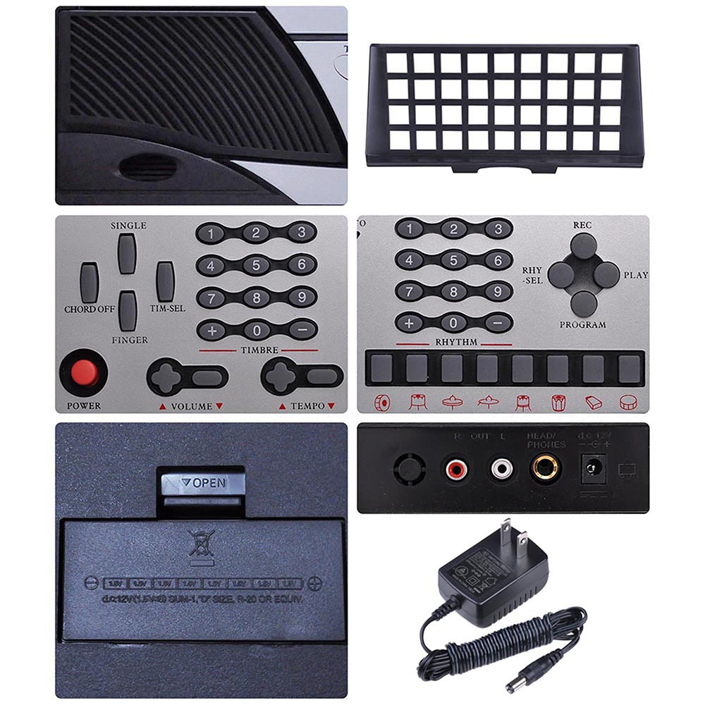 61-Key-Electric-Keyboard-Digital-Piano-Instrument-Kids-Talent-Practise-Xmas-Gift thumbnail 43