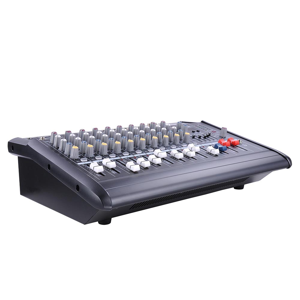 DJ-Studio-Power-Mixer-Amplifier-16DSP-LCD-Recording-USB-Slot-4-6-8-10-Channel miniature 5