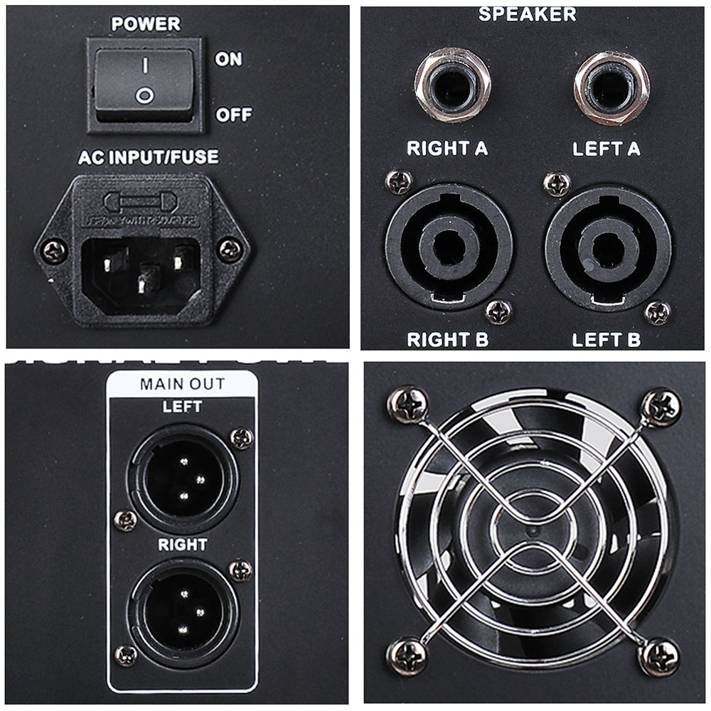 DJ-Studio-Power-Mixer-Amplifier-16DSP-LCD-Recording-USB-Slot-4-6-8-10-Channel miniature 8