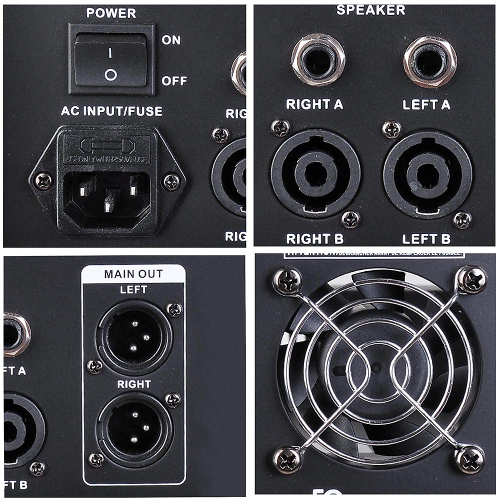 DJ-Studio-Power-Mixer-Amplifier-16DSP-LCD-Recording-USB-Slot-4-6-8-10-Channel miniature 13