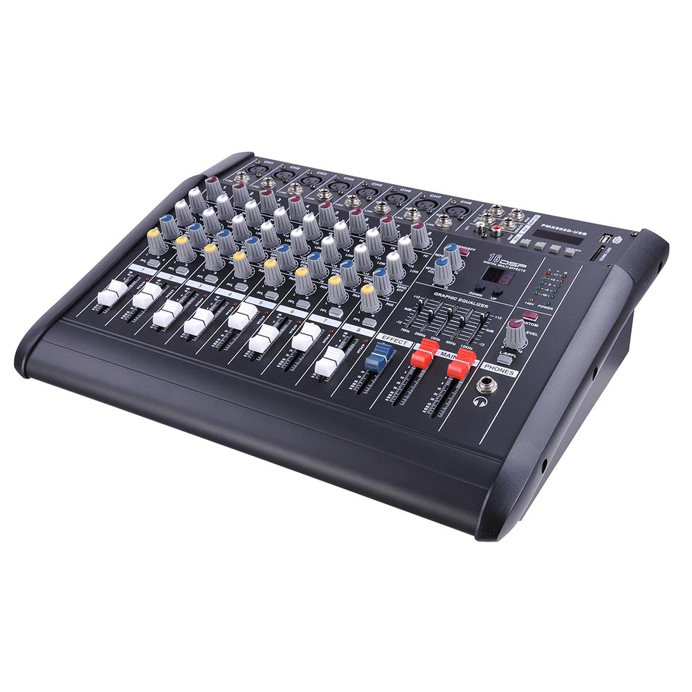 DJ-Studio-Power-Mixer-Amplifier-16DSP-LCD-Recording-USB-Slot-4-6-8-10-Channel miniature 22