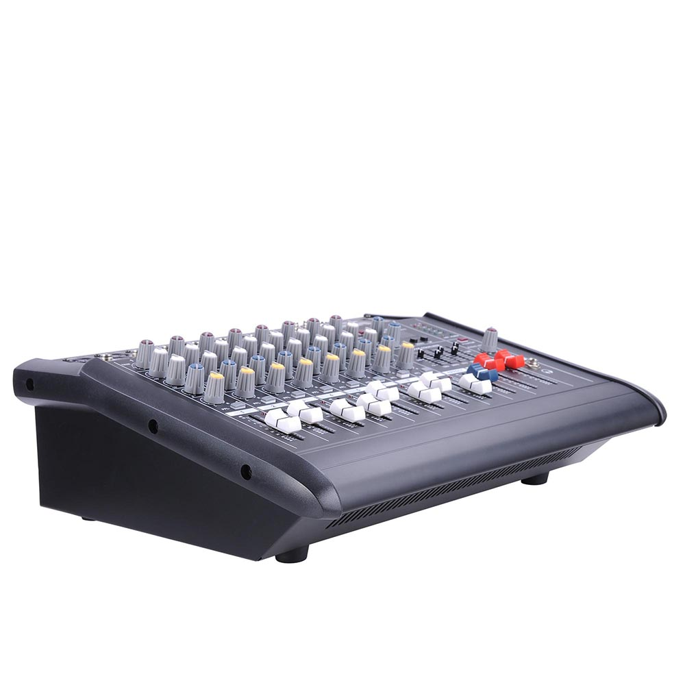 DJ-Studio-Power-Mixer-Amplifier-16DSP-LCD-Recording-USB-Slot-4-6-8-10-Channel miniature 23