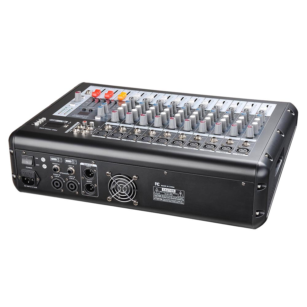 DJ-Studio-Power-Mixer-Amplifier-16DSP-LCD-Recording-USB-Slot-4-6-8-10-Channel miniature 29