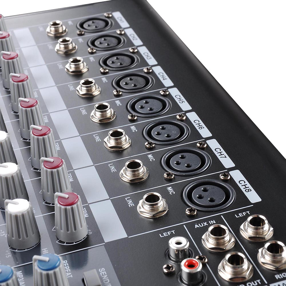 DJ-Studio-Power-Mixer-Amplifier-16DSP-LCD-Recording-USB-Slot-4-6-8-10-Channel miniature 41