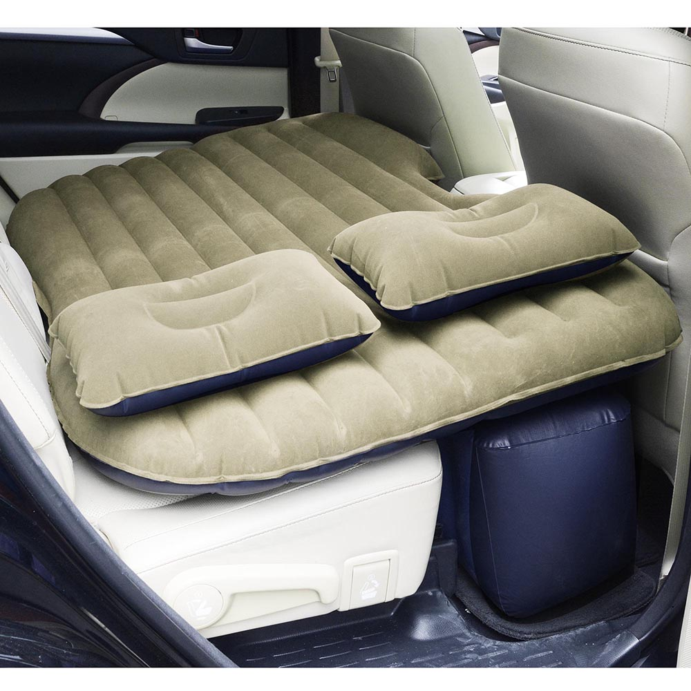 Universal-Inflatable-Mattress-Car-Air-Bed-Travel-Camping-Seat-Cushion-w-Pillows thumbnail 28