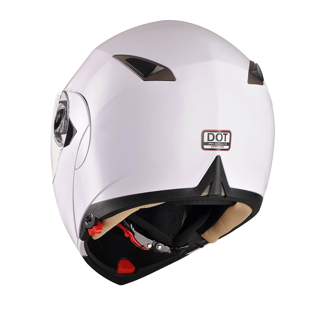 DOT-Flip-up-Modular-Full-Face-Motorcycle-Helmet-Dual-Visor-Motocross-Size-Opt thumbnail 58