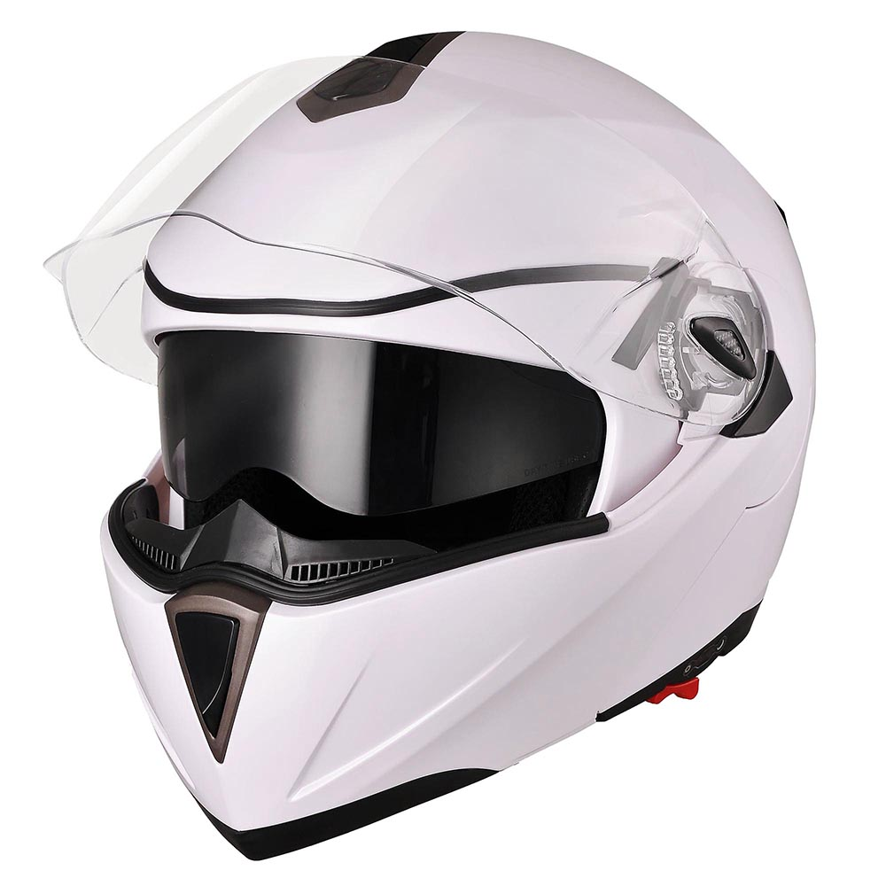 DOT-Flip-up-Modular-Full-Face-Motorcycle-Helmet-Dual-Visor-Motocross-Size-Opt thumbnail 103