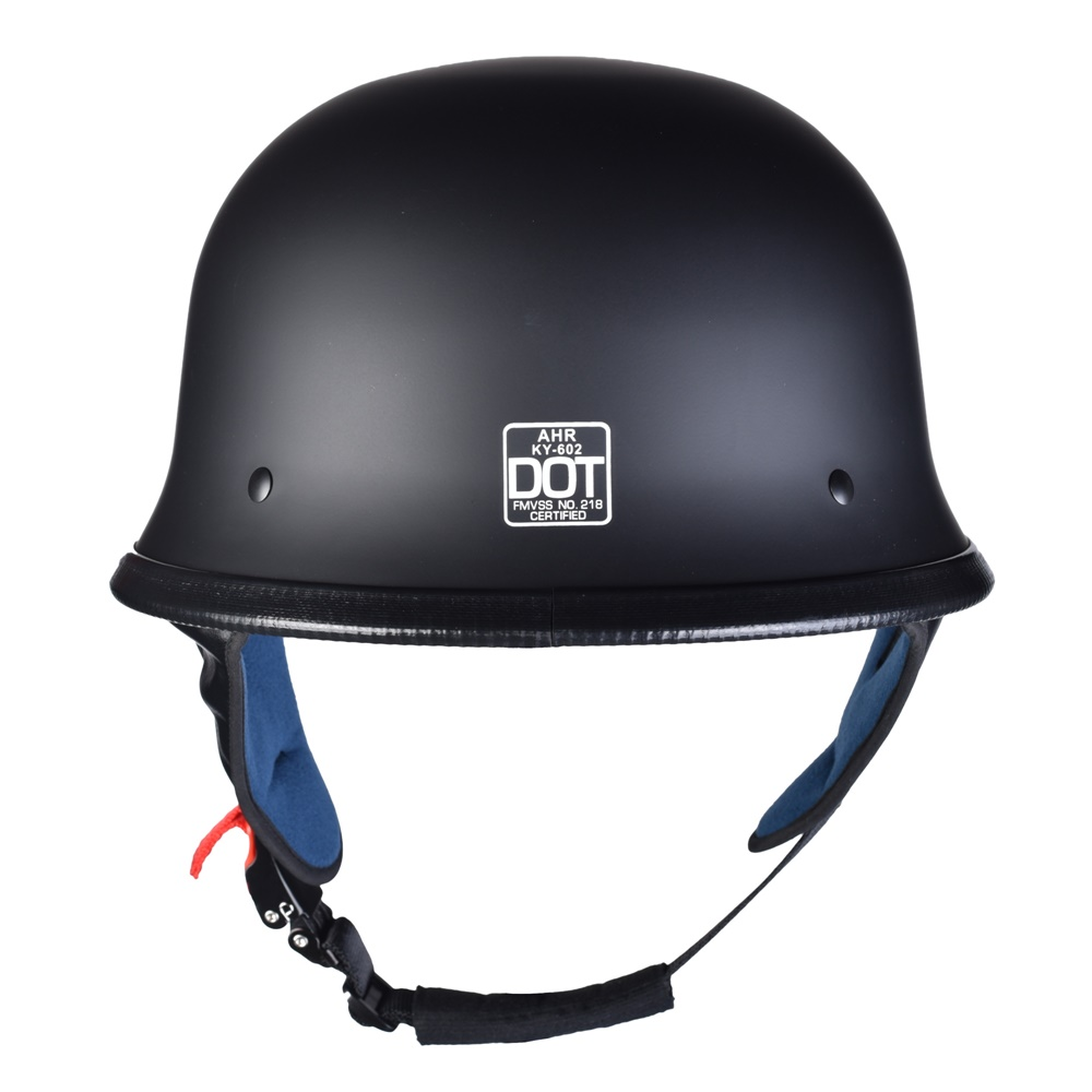 miniature 52 - AHR DOT Motorcycle German Half Face Helmet M Black Chopper Cruiser Biker M/L/XL