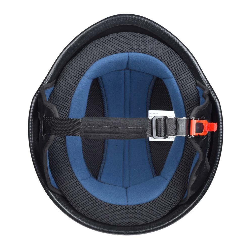 miniature 65 - AHR DOT Motorcycle German Half Face Helmet M Black Chopper Cruiser Biker M/L/XL