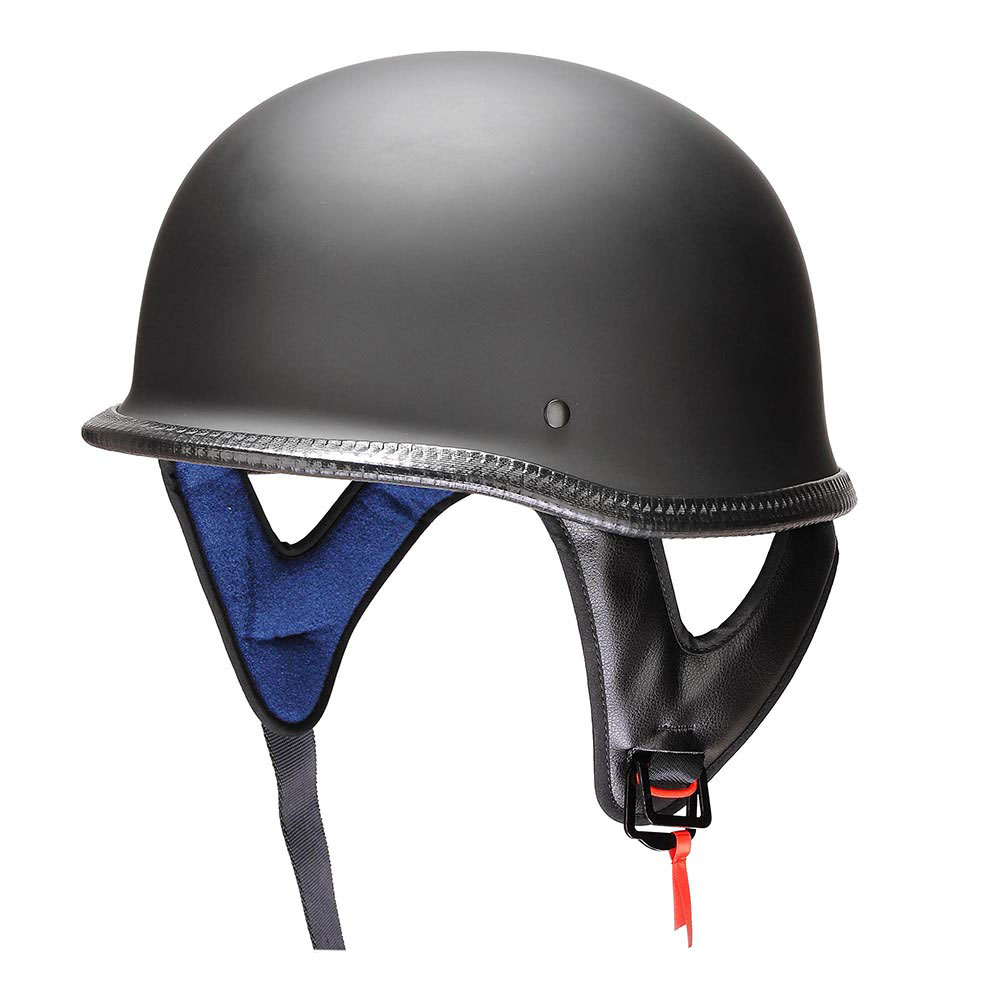 DOT-Motorcycle-German-Half-Face-Helmet-Matte-Black-Chopper-Cruiser-Biker-M-L-XL thumbnail 34