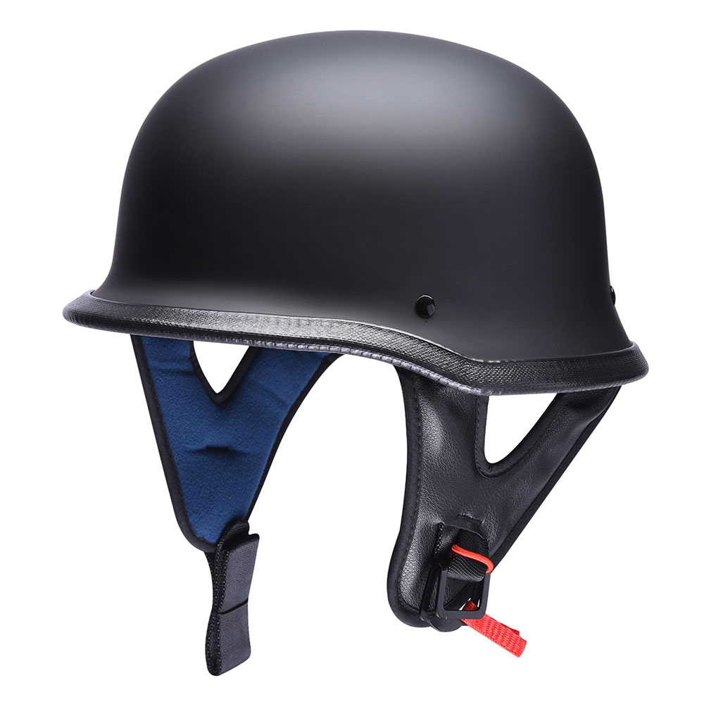DOT-Motorcycle-German-Half-Face-Helmet-Matte-Black-Chopper-Cruiser-Biker-M-L-XL thumbnail 42