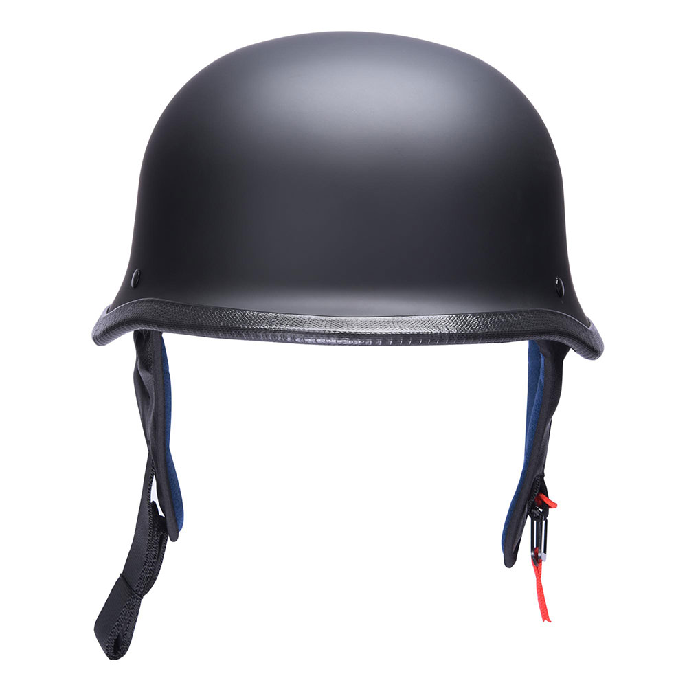 DOT-Motorcycle-German-Half-Face-Helmet-Matte-Black-Chopper-Cruiser-Biker-M-L-XL thumbnail 43