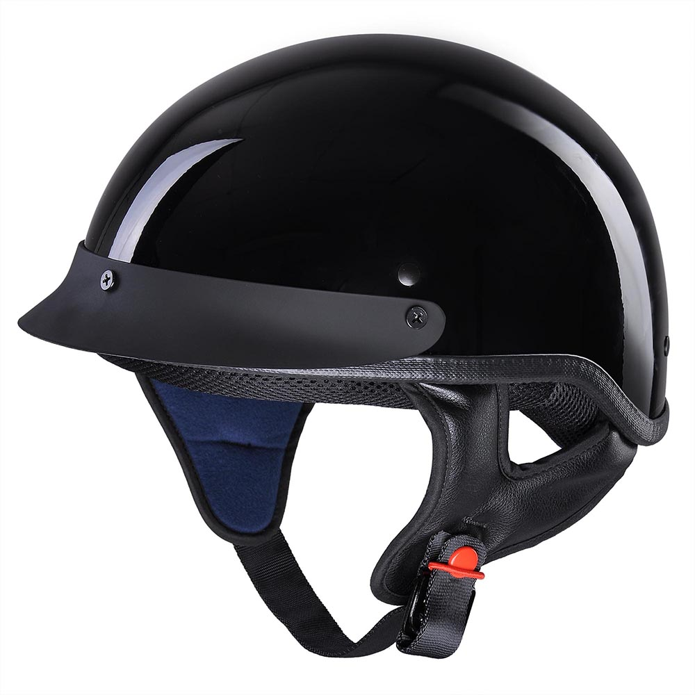 DOT-Approved-Motorcycle-Half-Helmet-Chopper-Cruiser-Scooter-ABS-Shell-Size-S-XL thumbnail 4