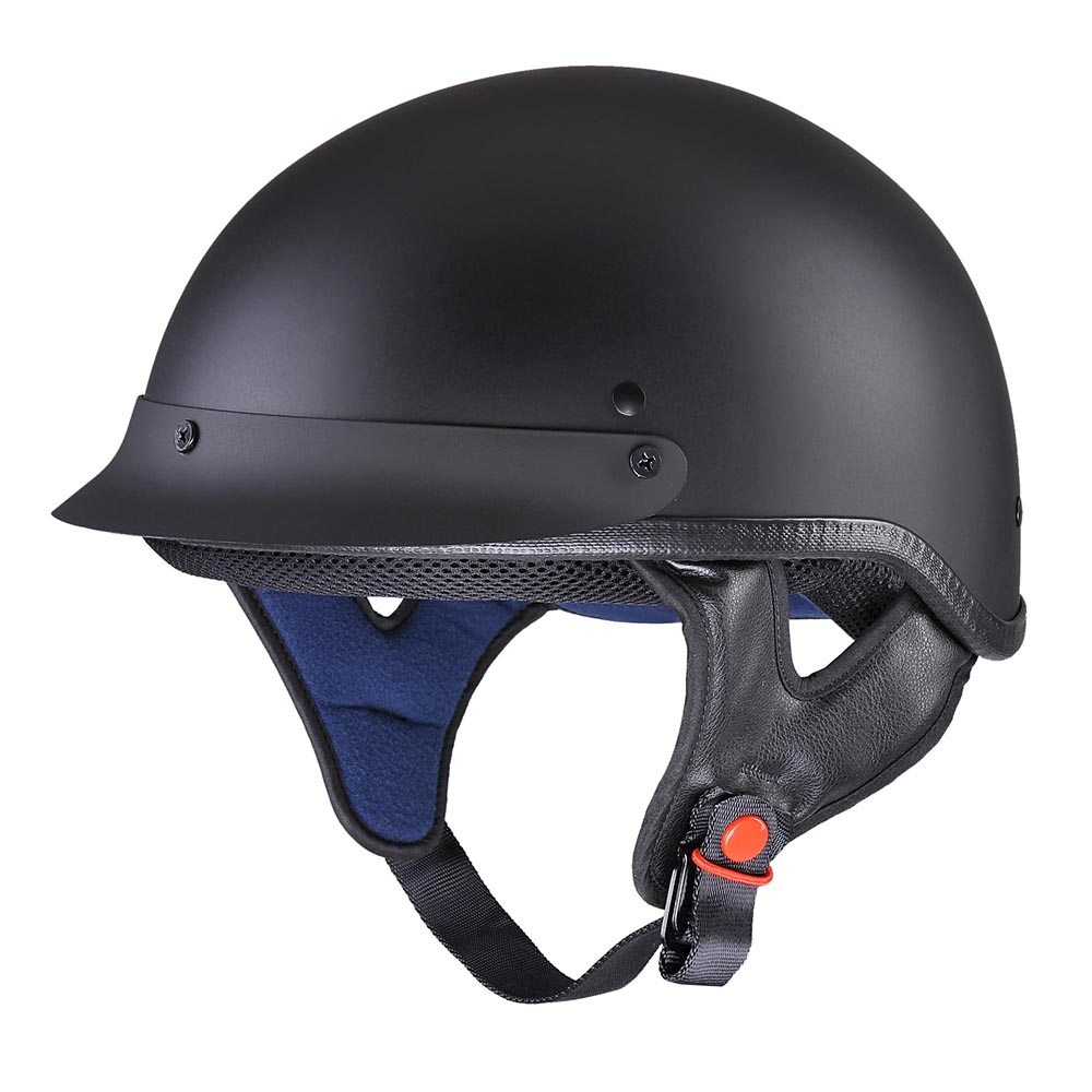 DOT-Approved-Motorcycle-Half-Helmet-Chopper-Cruiser-Scooter-ABS-Shell-Size-S-XL thumbnail 46