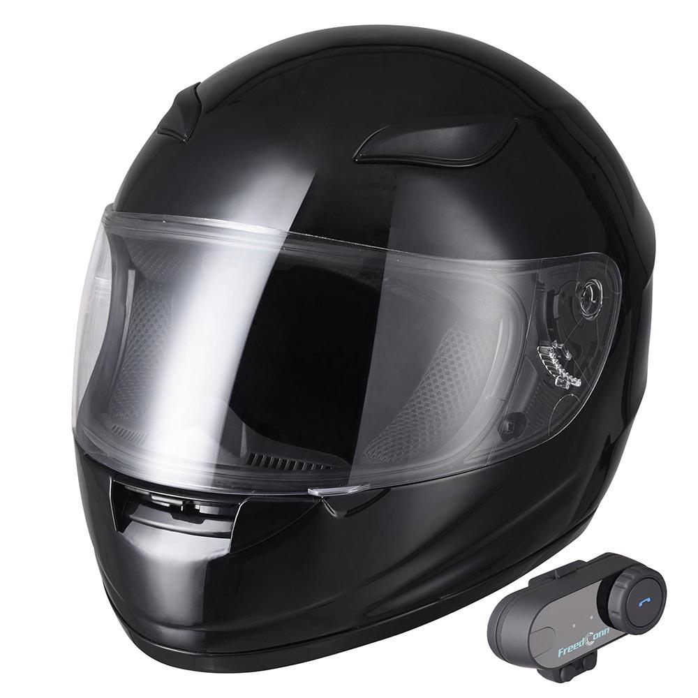 DOT-Motorcycle-Full-Face-Adult-Helmet-Size-M-XL-w-Bluetooth-Wireless-Headset thumbnail 24
