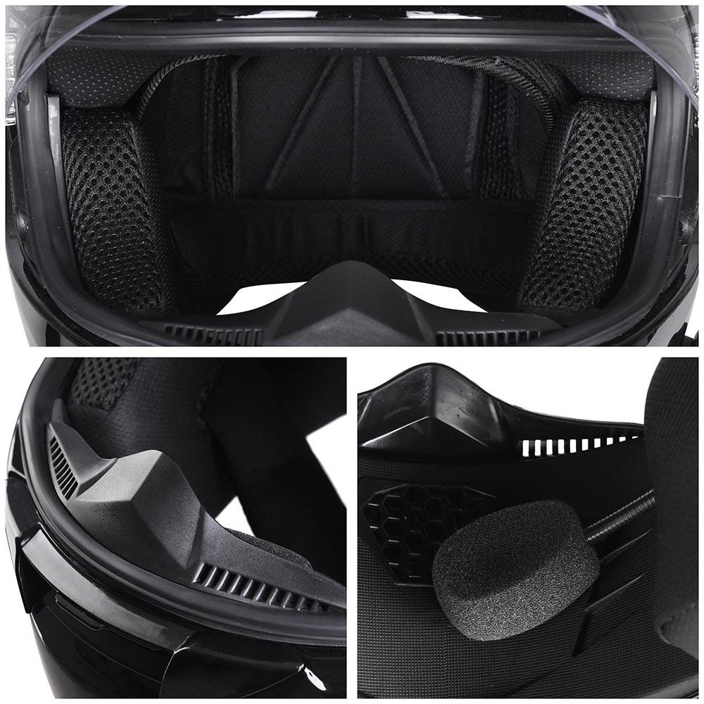 DOT-Motorcycle-Full-Face-Adult-Helmet-Size-M-XL-w-Bluetooth-Wireless-Headset thumbnail 29